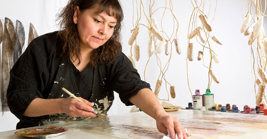 Picture of Sonya Kelliher-Combs, Alaska Native Mixed-Media Artist