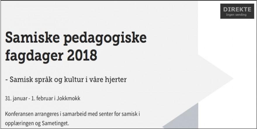 skjermbilde samiske fagdager 2018