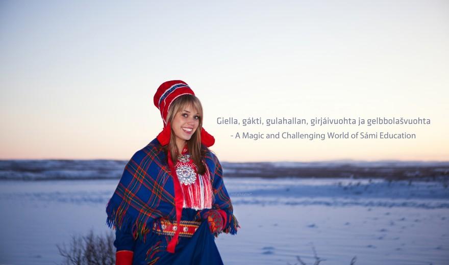 Bilde av jente i kofte ute, vinter.