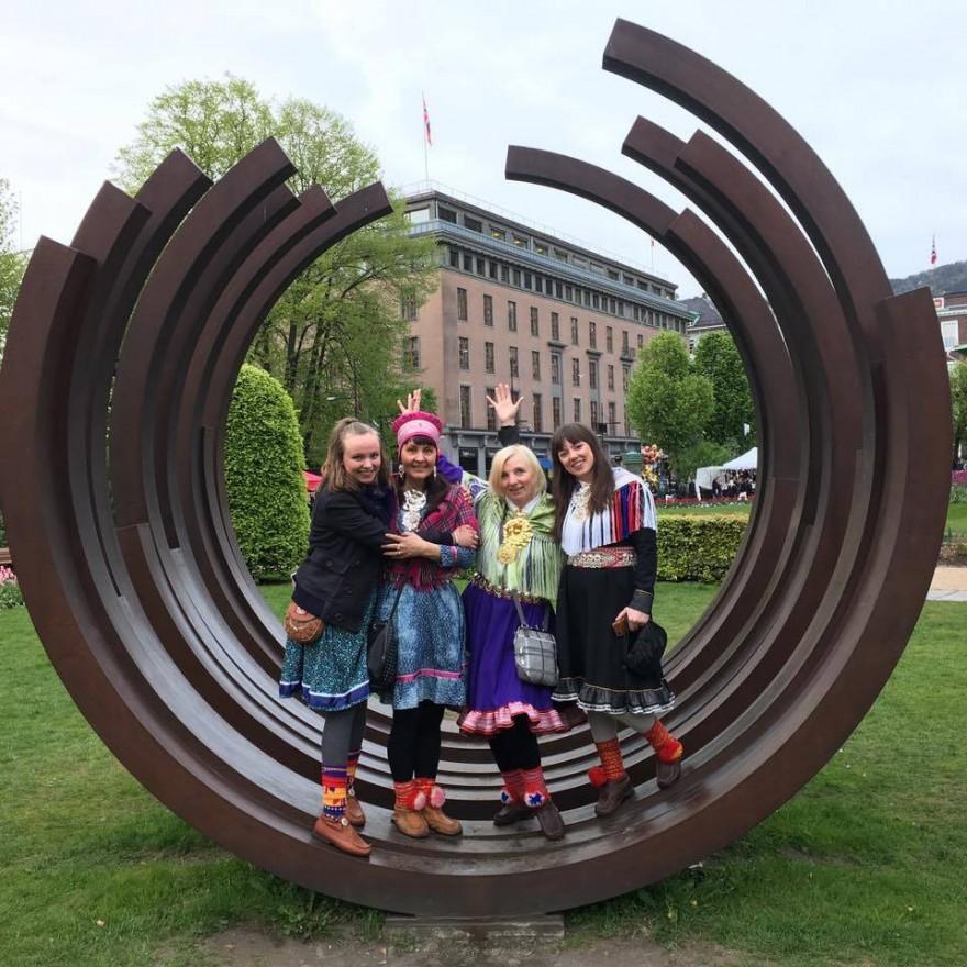 Bilde av studenter i Bergen