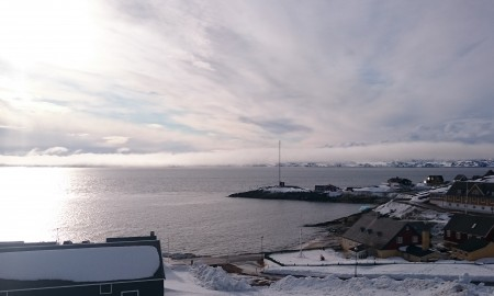 Bilde som viser kaien ved Nuuk i Grönland.