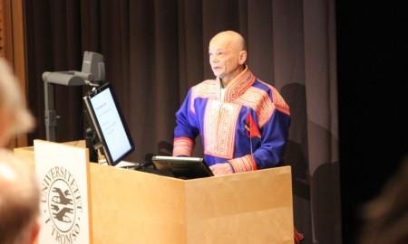 Bilde av Mikkel Nils M. Sara fra prøveforelesning