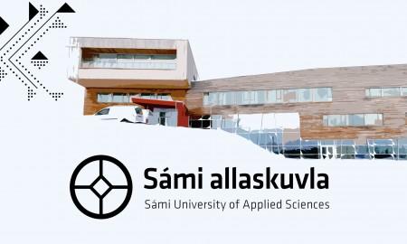 illustrasjonsbilde av Diehtosiida med samisk høgskole logo