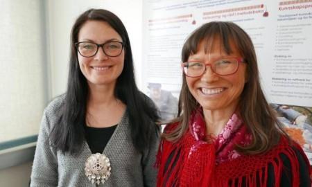 Bilde av prorektor og rektor ved samisk høgskole