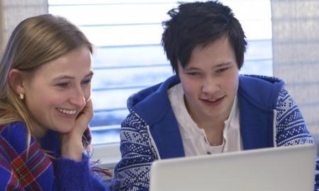 Studenter på Sámi allaskuvla